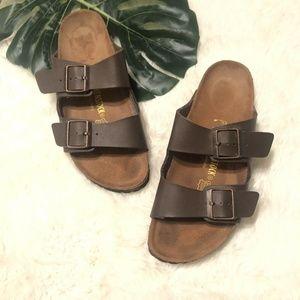 Birkenstock Arizona Slide Sandals Brown Size 41 N